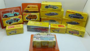 Twelve 'Dinky Toys' model vehicles by Norev, distributed by DeAgostini, boxed and sealed, (one