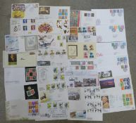 Thirty-one stamp first day covers, including some higher value definitives