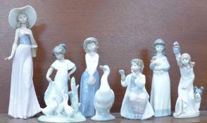 Eight Nao figures