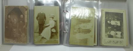 Postcards; a collection of real photographic postcards, (44)