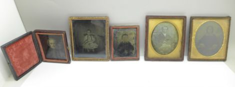 Five late Victorian ambrotype photographs