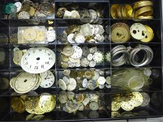 A collection of watch parts