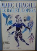A Marc Chagall Le Ballet, L'Opera exhibition poster, framed