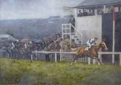 "Algernon Thompson (1880-1944), ""Coranach"", The Derby 1926, oil on canvas, 35 x 50cms, framed"