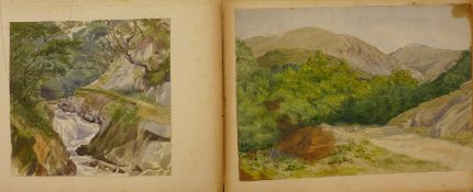 Seventeen 19th Century English School watercolours, various sizes, all unframed