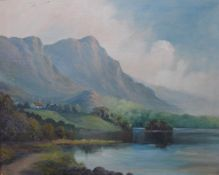 J. Wilson, Scottish loch landscape, oil on canvas, dated 1904, 40 x 50cms, framed