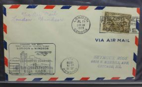 Stamps, album of flight related covers, first flight and commemorative, 1929 onwards