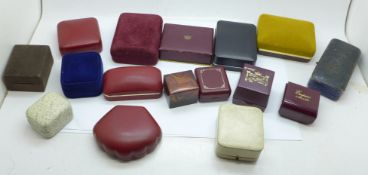 A collection of jewellery boxes including vintage