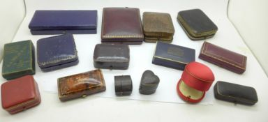 Edwardian and later jewellery boxes including JW Benson