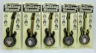 A set of four The Rolling Stones guitar brooches