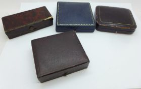 A Liberty jewellery box and three other vintage boxes