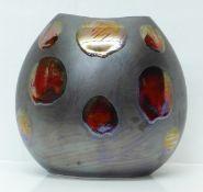 A Poole Pottery Metallic Galaxy large purse vase, 26cm