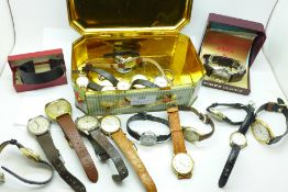 Nineteen wristwatches including Rotary GT Monza, Buler, Sekonda and Timex, (most a/f)