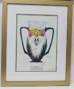 A Moorcroft limited edition print, Royal House of Windsor Loving Cup, 73/500, signed by Vicki Lovatt