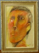 S. Asher, two portraits, pastels, 59 x 39cms and 66 x 55cms, both framed