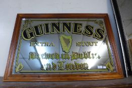 A Guinness advertising mirror