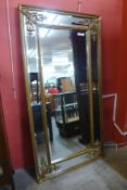 A large gilt French style framed mirror, 184 x 93cms (M33138) #