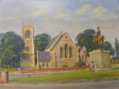 Charles Clift (b.1930), St. Mary's Chatham, oil on board, 30 x 41cms, unframed