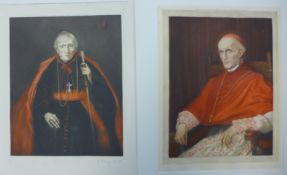 Two 19th Century coloured mezzotints, Cardinal Newman (1801-1890) and Cardinal Manning (1808-1892)