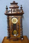 A 19th Century walnut Vienna wall clock