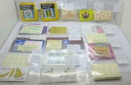 Stamps; worldwide booklets in tray, 90 booklets with high catalogue value as stamps alone