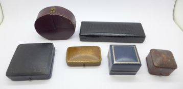 A collection of six jewellery boxes