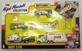 A Matchbox Nigel Mansell Collection Indy Car die-cast model set, boxed