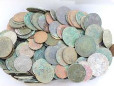 A large quantity of mostly metal detecting coinage