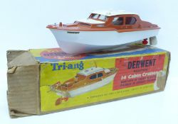 "A Tri-ang 4/4.S Derwent electric 14"" cabin cruiser, boxed"