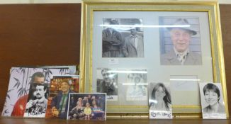 An Only Fools and Horses framed montage with autographs and cast photographs plus a collection of
