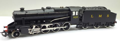 A Hornby Railways 2-8-0 LMS model locomotive and tender, boxed