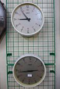 Two Gent industrial factory wall clocks, 32cms d
