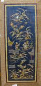 Two Chinese silkwork embroideries, framed
