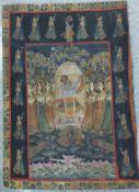 Indian School, ceremonial scene, gouache on silk, 114 x 85cms, unframed