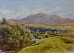 Scottish School (19th Century), two landscapes, watercolours, 36 x 25cms and 19 x 25cms, both