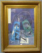 A Pablo Picasso print, gilt framed, 97 x 77cms (including frame)