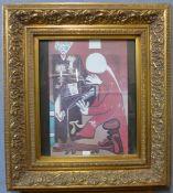 A Pablo Picasso print, gilt framed, 96 x 86cms (including frame)