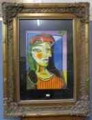 A Pablo Picasso print, gilt framed, 126 x 96cms (including frame)