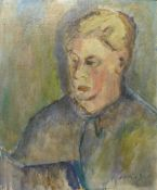 Manner of Ruskin Spear CBE RA (1911-1990), portrait of a man, oil on canvas, bearing signature, 60 x
