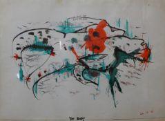 Billy McPhee (Surrealist School), The Body, watercolour, 29 x 40cms, framed