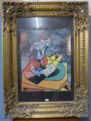 A Pablo Picasso print, gilt framed, 121 x 91cms (including frame)