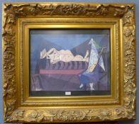A Pablo Picasso print, gilt framed, 98 x 97cms (including frame)