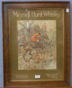 An Alton & Co. Ltd., Meynell Hunt Whisky advertising print, oak frame, 64 x 50 (including frame)