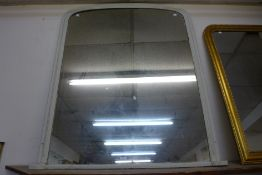 A Victorian painted overmantel mirror