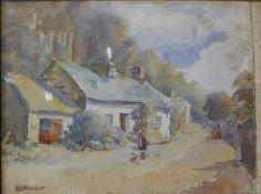 Welsh School, River Mawddach, Dolgellau, watercolour, 24 x 30cms, framed
