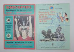 A collection of Nottingham Forest signatures on two reproduction football programmes, 1979 and
