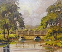 English Impressionist School, river landscape, oil on canvas, 25 x 30cms, unframed