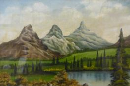 G.W. Warboys, pair of lake scenes, oil on canvas, dated 1921, 39 x 60cms, framed