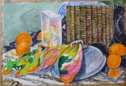 Pamela Guille, pair of still lifes, watercolour, 52 x 35cms, unframed