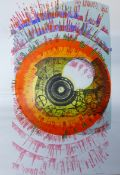 Pamela Guille, Sun Chariot, signed artists proof screen print, 60 x 41cms, unframed